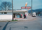 CS01107-05. Dairy Queen, Roseberg, March 1951. This drive-in was heavily damaged by the 1959 dynamite explosion in downtown Roseburg. The building could not be saved and was torn down.