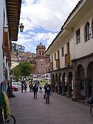 Walking along Dei Medio toward the Plaza de Armas, Cusco, Peru.