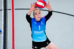 Daantje Vennik of Zwolle in action during the first league match between Djopzz Regio Zwolle Volleybal - Laudame Financials VCN on February 27, 2021 in Zwolle.