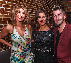 HOLLYWOOD, CA - JUNE 29 Cuban American journalist, author, and television & radio show host  Myrka Dellanos hosts fashion designer Johana Hernandez birthday bash at the Rose Room in Hollywood California. L-R, Myrka Dellanos, Johana Hernandez and Francis Bertrand. 2014 June 29. Byline, credit, TV usage, web usage or linkback must read SILVEXPHOTO.COM. Failure to byline correctly will incur double the agreed fee. Tel: +1 714 504 6870.