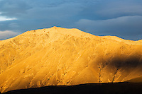Light and shadow on mountain in New Zealand