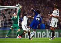 Chelsea's Willian hits the bar <br /> <br /> Photographer Ashley Western/CameraSport<br /> <br /> UEFA Champions League - Chelsea v FK Qarabag - Tuesday 12th September 2017 - Stamford Bridge - London<br />  <br /> World Copyright © 2017 CameraSport. All rights reserved. 43 Linden Ave. Countesthorpe. Leicester. England. LE8 5PG - Tel: +44 (0) 116 277 4147 - admin@camerasport.com - www.camerasport.com