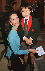 MRS AIDEN BARCLAY and her son ANDREW BARCLAY, members of the secretive  multi-millionaire Barclay family,  at a party in London on 12th June 1998.MIH 38