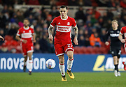 Muhamed Bešić of Middlesbrough during the EFL Sky Bet Championship match between Middlesbrough and Leeds United at the Riverside Stadium, Middlesbrough, England on 2 March 2018. Picture by Paul Thompson.