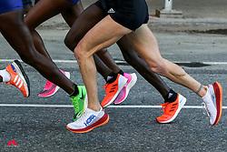 elite women running through Brooklyn<br /> TCS New York City Marathon 2019