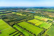 Nederland, Noord-Brabant, Gemeente Deurne, 23-08-2016; Deurnsche Peel, omgeving Helenaveen.<br /> Region of the Peel, former peat bog.<br /> aerial photo (additional fee required); <br /> luchtfoto (toeslag op standard tarieven);<br /> copyright foto/photo Siebe Swart
