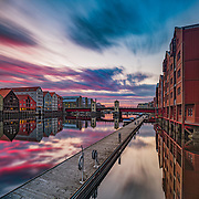 My website: www.aziznasutiphotography.com                                 Please note that this is a long-exposure shot (120s). This shot has been taken around 11:30 pm just after sunset in Trondheim.