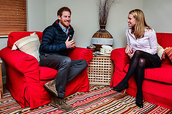 January 23, 2017 - Tidworth, Norfolk, United Kingdom - Image licensed to i-Images Picture Agency. 23/01/2017. Tidworth, United Kingdom. Prince Harry speaks with Head of Psychological Wellbeing Vanessa Moutan, at the Heroes Recovery Centre at Tedworth House in Tidworth, Wiltshire, United Kingdom. The Prince met ex-service personnel and learnt about the support available within the field of military mental health. Picture by ROTA / i-Images  UK OUT FOR 28 DAYS (Credit Image: © Rota/i-Images via ZUMA Press)