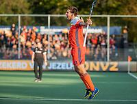 AMSTELVEEN - Bjorn Kellerman (Ned) scoort 1-0,   tijdens  de tweede  Olympische kwalificatiewedstrijd hockey mannen ,  Nederland-Pakistan (6-1). Oranje plaatst zich voor de Olympische Spelen 2020.  COPYRIGHT KOEN SUYK