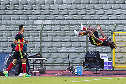 June 5, 2017 - Brussels, BELGIUM - Belgium's Michy Batshuayi celebrates after scoring the 1-0 goal at a friendly game between Belgian national soccer team Red Devils and Czech Republic, Monday 05 June 2017, in Brussels. BELGA PHOTO LAURIE DIEFFEMBACQ (Credit Image: © Laurie Dieffembacq/Belga via ZUMA Press)