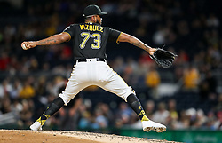 Jun 15, 2018; Pittsburgh, PA, USA; Pittsburgh Pirates relief pitcher Felipe Vazquez (73) throws a pitch during the ninth inning against the Cincinnati Reds at PNC Park. Mandatory Credit: Ben Queen-USA TODAY Sports