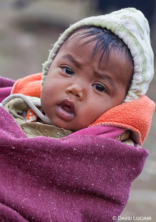 Portrait of a baby in Sisen village.