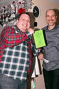 Matt Feil with his winning card, and Vinny