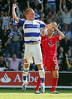 Fotball<br /> England<br /> Foto: Fotosports/Digitalsport<br /> NORWAY ONLY<br /> <br /> Queens Park Rangers / QPR FC vs Barnsley FC Championship 26/09/09<br /> <br /> Ben Watson celebrates scoring QPR's 4th goal.