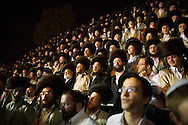 Orthodox jews  during the Lag BaOmer celebrations in the distric of Mea Shearim