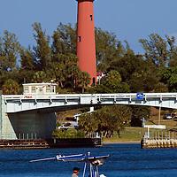 Historice lighthouse marking the Jupiter Inlet