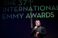 Host Graham Norton entertains those in attendance at the 37th International Emmy Awards Gala in New York on Monday, November 23, 2009.  ***EXCLUSIVE***