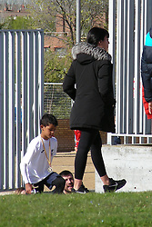 EXCLUSIVE: Georgina Rodriguez and Dolores Aveiro support Cristiano Ronaldo Jr. in his last football match where he was named as highest scorer of the school league. 15 Apr 2018 Pictured: Georgina Rodriguez, Cristiano Junior. Photo credit: MEGA TheMegaAgency.com +1 888 505 6342