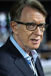 © Licensed to London News Pictures. 26/09/2021. Brighton, UK. PETER MANDELSON at the conference . The second day of the 2021 Labour Party Conference , which is taking place at the Brighton Centre . Photo credit: Joel Goodman/LNP