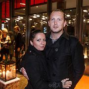NLD/Amsterdam/20131105 - Sanne Kraaijkamp en partner Geerd Smid
