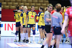 HERNING, DENMARK - DECEMBER 3, 2020: Jamina Roberts (8) of Sweden after the EHF Euro 2020 Group C match between Sweden and Czech Republic in Jyske Bank Boxen, Herning, Denmark on December 3 2020. Photo Credit: Allan Jensen/EVENTMEDIA.