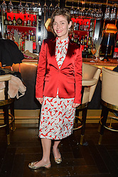 CAMILLA RUTHERFORD at the launch of Giovanni's Gin Joint at Quaglino's, 16 Bury Street, London on 13th July 2016.