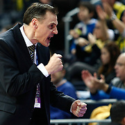 Fenerbahce's coach Roberto Iniguez De Heredia during their Turkish Basketball woman league derby match Fenerbahce between Galatasaray at Ulker Sports Arena in Istanbul, Turkey, wednesday, December 26, 2012. Photo by Aykut AKICI/TURKPIX