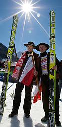 20.03.2011, Planica, Kranjska Gora, SLO, FIS World Cup Finale, Ski Nordisch, Skiflug Einzelbewerb, im Bild Kamil Stoch (POL) und Adam Malysz (POL) // Kamil Stoch (POL) and Adam Malysz (POL) during individual competition of the Ski Jumping World Cup finals in Planica, Slovenia, 20/3/2011. EXPA Pictures © 2011, PhotoCredit: EXPA/ J. Groder
