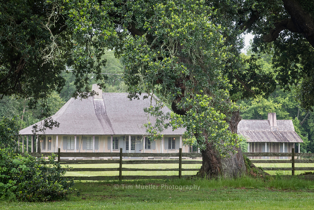 The Nicholas LaCour House, built in Pointe Coupee Parish in the mid-1700's is one of the oldest existing buildings in the Mississippi River Valley. The LaCour home is across Chenal Road from Maison Chenal.