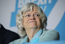 Ann Widdecombe during at a rally at Featherstone Working Man's Club, while on the European Election in Pontefract, West Yorkshire. Picture dated: Monday May 13, 2019. Photo credit should read: Isabel Infantes / EMPICS Entertainment.