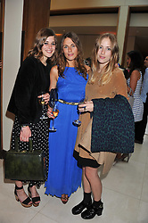 Left to right, sisters Shonagh Marshall, MOIRA BRESLIN, CATRIONA MARSHALL at the Veuve Clicquot Mint Polo in The Park after party held at The Hurlingham Club, Ranelagh Gardens, London SW6 on 5th June 2011.