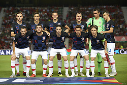 September 11, 2018 - Elche, Spain - Line up Croatia (L-R) Ivan Rakitic, Matej Mitrovic,Ivan Santini, Domagoj Vida, Marko Livaja, Ivan Perisic, Marcelo Brozovic, Mateo Kovacic, Vrsaljko, Lovre Kalinic, Luka Modric  during the UEFA Nations League football match between Spain and Croatia at Martinez Valero Stadium in Elche, Spain on September 8, 2018. (Credit Image: © Jose Breton/NurPhoto/ZUMA Press)