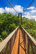 The Hanapepe swinging bridge, Hanapepe, Island of Kauai, Hawaii