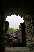 Tunnel and steps to arena of Circa Romano hippodrome, Merida, Extremadura, Spain
