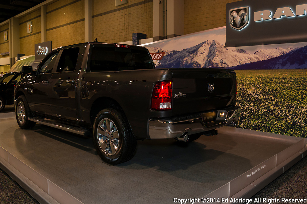 CHARLOTTE, NORTH CAROLINA - NOVEMBER 20, 2014: Dodge RAM 1500 on display during the 2014 Charlotte International Auto Show at the Charlotte Convention Center.