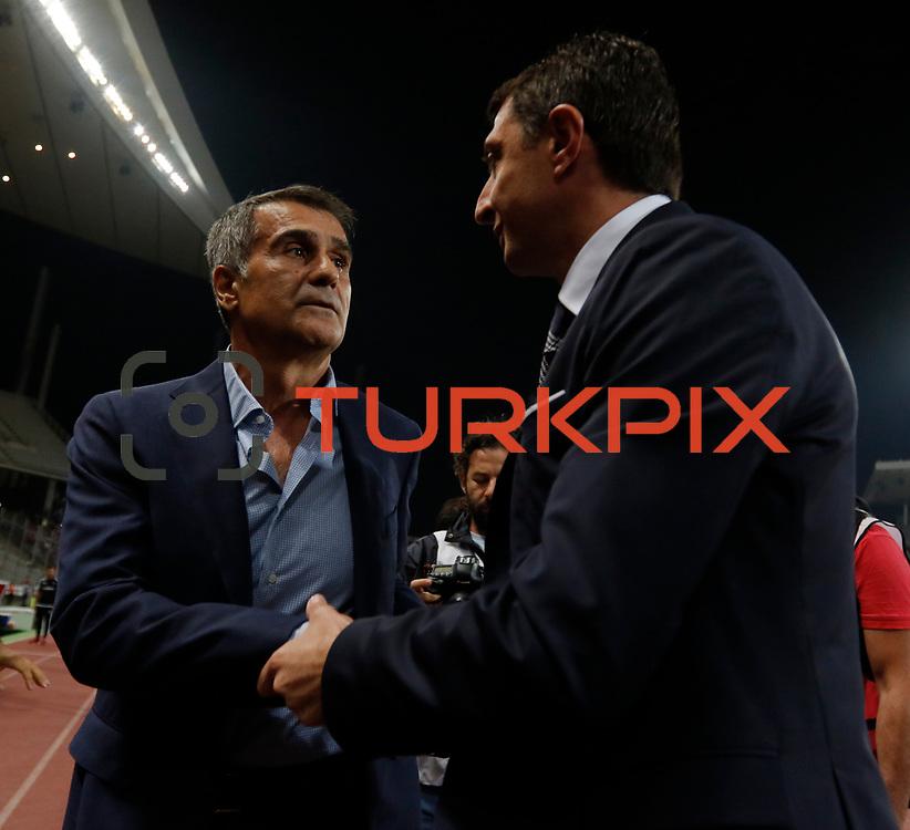 Besiktas's and Trabzonspor's during their Turkish Super League soccer derby match Besiktas between Trabzonspor at the Ataturk Olimpiyat stadium in Istanbul Turkey on Saturday, 22 August 2015. Photo by Aykut AKICI/TURKPIX