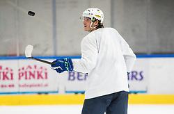 "Luka Maver during practice session of Slovenian Ice Hockey National team before ""Beat Covid-19 Ice Hockey Tournament"", on May 12, 2021 in Hala Tivoli, Ljubljana, Slovenia. Photo by Vid Ponikvar / Sportida"