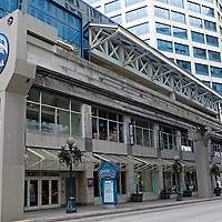USA, Washington, Seattle. Seattle's Monorail Station.