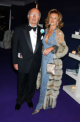 BJARNE & YVONNE RIEBER at The British Red Cross London Ball - H2O The Element of Life, held at The Room by The River, 99 Upper Ground, London SE1 on 17th November 2005.<br />
