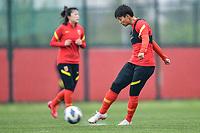 Chinese Women's Football Training, 2020 Tokyo Olympic Women's Football Tournament Playoff , Suzhou, Jiangsu Province, China, 11 Apr 2021.