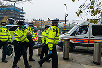 London comes to a standstill due to Save our Rights UK anti lockdown and anti vaccine protest organised by Save our Rights UK cause chaos around London ,police detained 155 people for breaching coronavirus restrictions, assaulting a police officer and drug possession photo by Mark Anton Smith