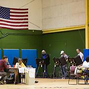Charlotte, NC- November 8, 2016:  Voters cast their ballots inside the Hawthorne Recreation Center near uptown Charlotte, NC. CREDIT: LOGAN R. CYRUS