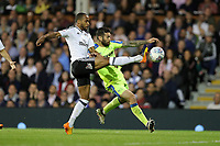 LONDON, ENGLAND - MAY 14:LONDON, ENGLAND - MAY 14:Derby's Bradley Johnson is tackled by Fulham's Denis Odoi