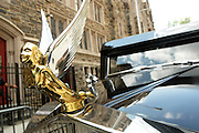 July 24, 2012-New York, NY:  A Hearse awaits the body of the legendary restaurateur Slyvia Woods at the official Slyvia Woods Harlem Community memorial and send off through the streets of Harlem. Sylvia Woods was an American restaurateur who co-founded the landmark restaurant Sylvia's in Harlem on Lenox Avenue, New York City with her husband, Herbert Woods, in 1962 (Photo by Terrence Jennings)