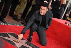 Adam Levine is honored with a star on the Hollywood Walk of Fame on February 5, 2017 in Los Angeles, California. Photo by Lionel Hahn/AbacaUsa.com