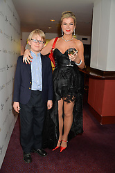 STEPHANIE GORBOUNOVA and her son MARCEL GORBOUNOVA at the Russian Ballet Icons Gala at The London Coliseum, 33-35 St.Martin's Lane, London on 9th March 2014.