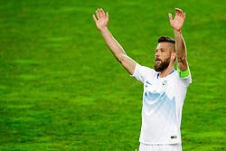 Bostjan Cesar of Slovenia greets fans during friendly football match between National teams of Slovenia and Belarus, on March 27, 2018 in SRC Stozice, Ljubljana, Slovenia. Photo by Matic Klansek Velej / Sportida