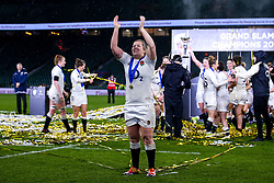 Marlie Packer of England Women celebrates winning the Women's Six Nations - Mandatory by-line: Robbie Stephenson/JMP - 16/03/2019 - RUGBY - Twickenham Stadium - London, England - England Women v Scotland Women - Women's Six Nations