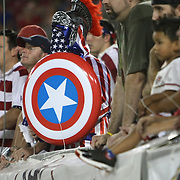 A United States supporter cheers during a CONCACAF Gold Cup soccer match between the United States and Panama on Saturday, June 11, 2011, at Raymond James Stadium in Tampa, Fla. (AP Photo/Alex Menendez)