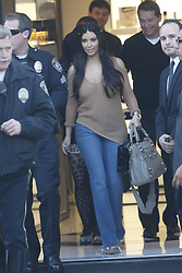 Kim Kardashian looked casual in jeans and a tiara, stopping by the Chanel shop in Los Angeles, CA, USA, on  January 20th, 2012. Photo by Frederic Madison/ABACAPRESS.COM  | 305172_003